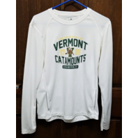 New Balance NCAA Vermont Catamounts White Long Sleeve Athletic Shirt Men's Sz S