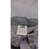 Vintage CSA New York Yankees Houndstooth Button Front Short Sleeve Shirt Size XL