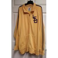 College Vault Mustard Yellow LSU Louisiana State Full Zip Jacket Size 3XL NCAA