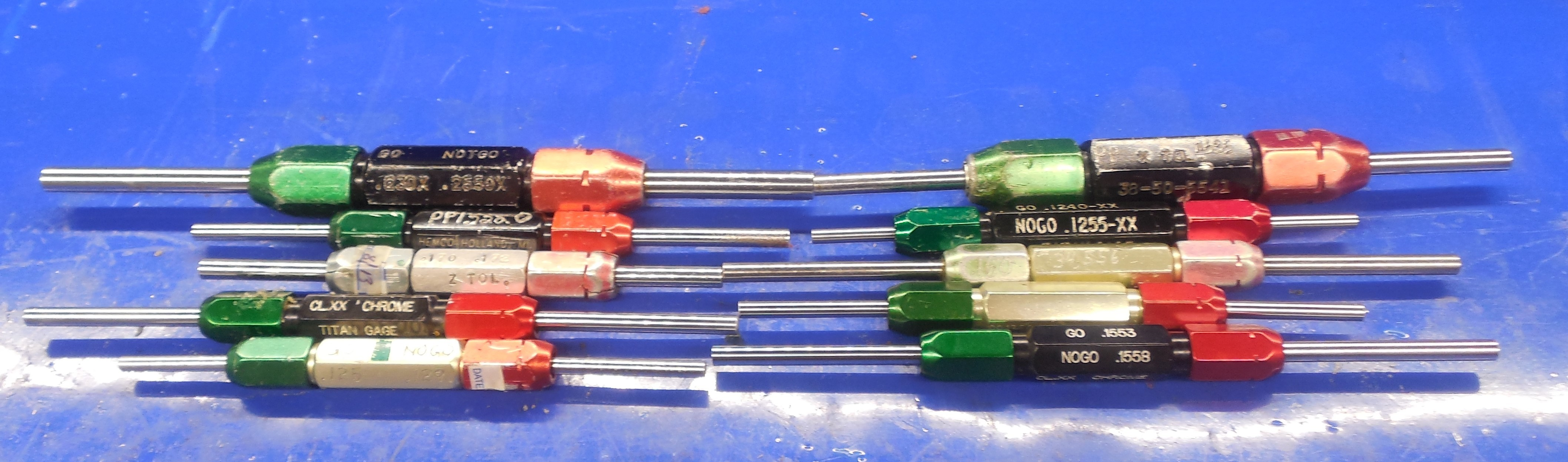 20 Pc Smooth Pin Plug Gage Lot 2500 1250 Over Under Onsize Go No Go 1 4 1 8 Ebay