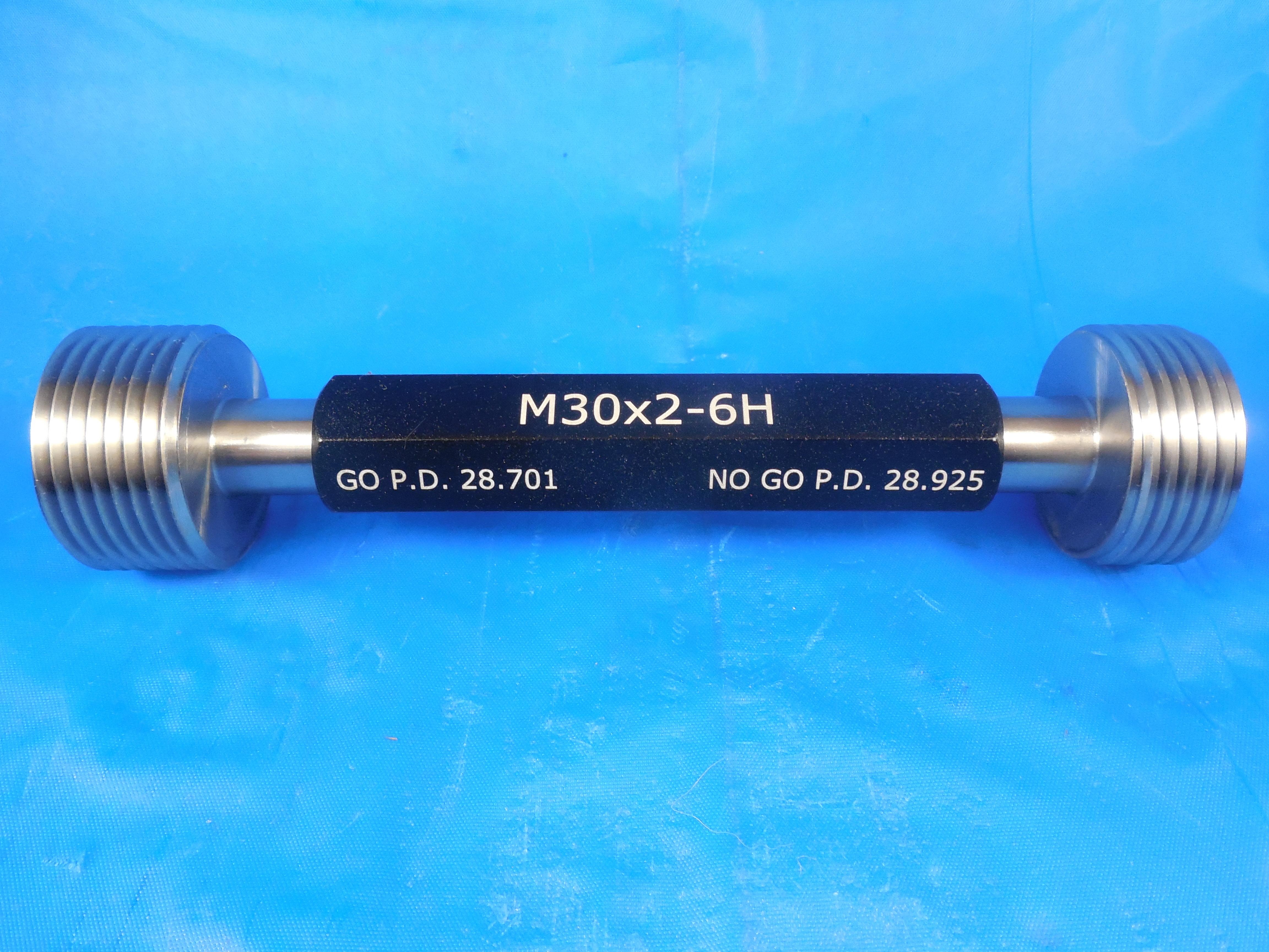 NEW M30 X 3.5 6H METRIC THREAD PLUG GAGE 30.0 3.50 GO NO GO PD/'S 27.727 /& 28.007