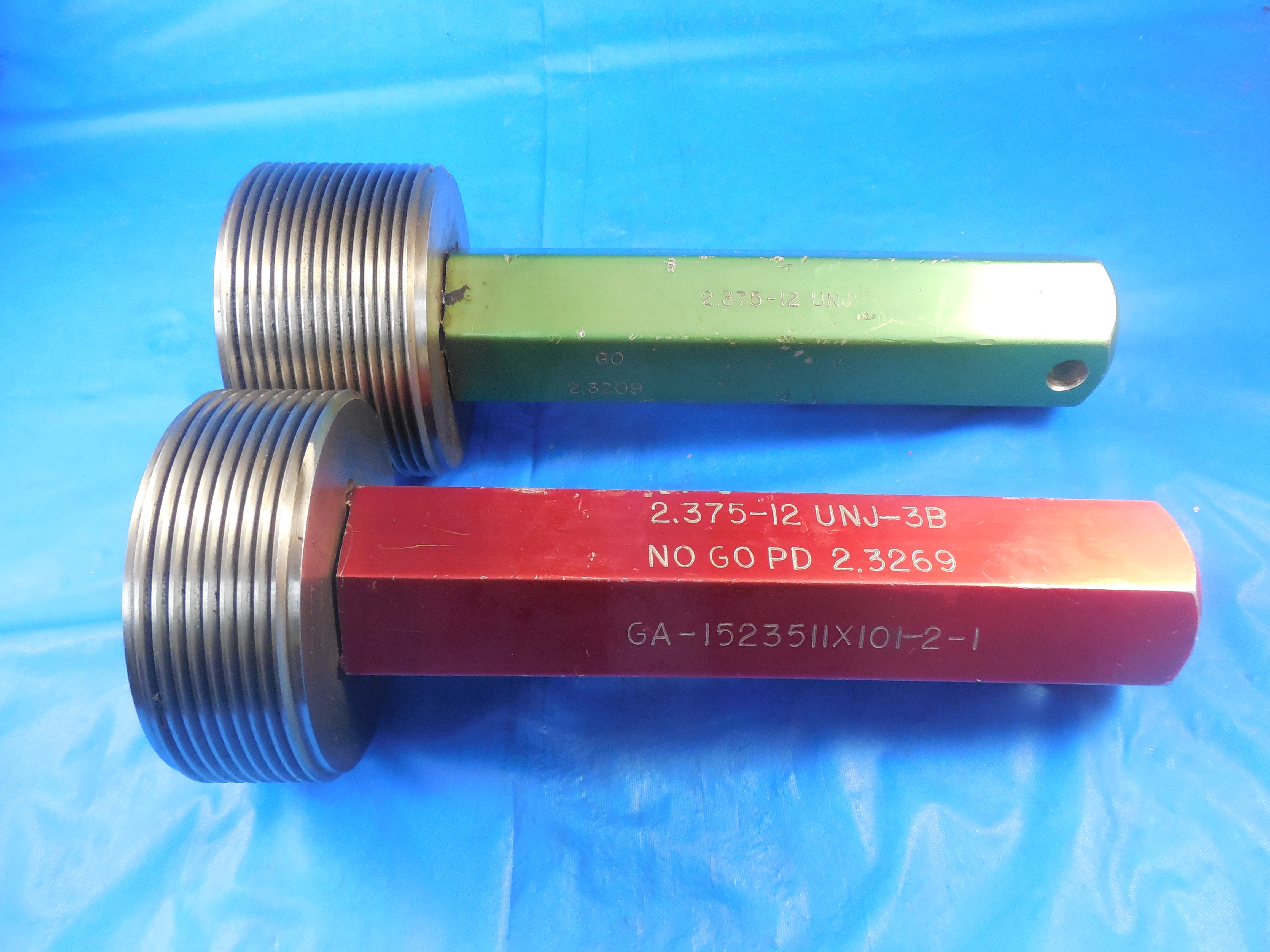 2 3//8 12 NS 3 GO THREAD RING GAGE 2.375 P.D.= 2.3209 TOOLING TOOLMAKER TOOLS