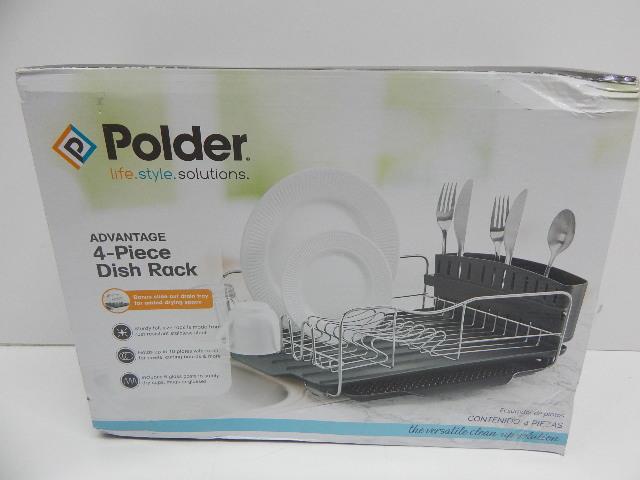 Polder Kth 615 Dish Rack Tray 4pc Combo Advantage System Box
