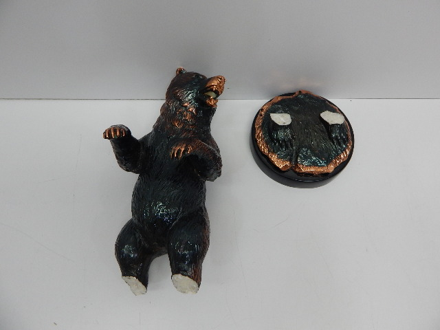 "StealStreet SS-BA-C784, 12.5"" Copper Bear Reared Up Ready to Attack Decoration"