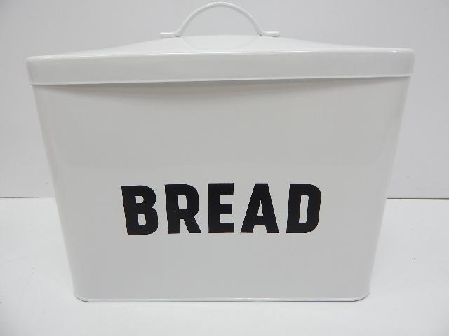 Claimed Corner 8541994210 Metal Bread Box, White SHIPPING DAMAGE