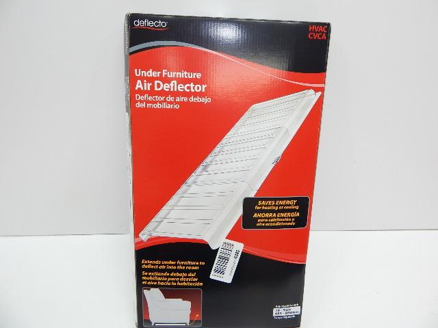 """Deflecto Furniture Deflector Air Vent Register Extender, 11"""", Clear 2 pk BOX DMG"""