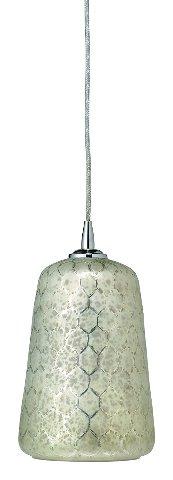 Jamie Young Company 5BELL-PELG Bell Pendant Light, Lattice Glass OPEN BOX