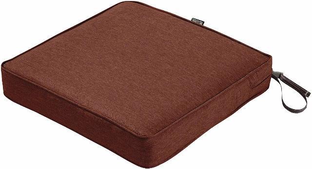 Classic Accessories Montlake 20x20 Seat Cushion Foam & Slip Cover, Heather Henna