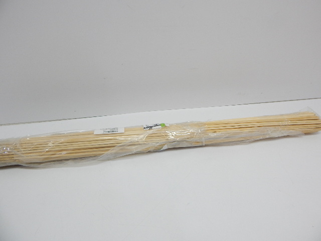 Bambu Stix Marshmallow Roasting Sticks - 36 Inch 5mm Thick, 40ct DISTRESSED