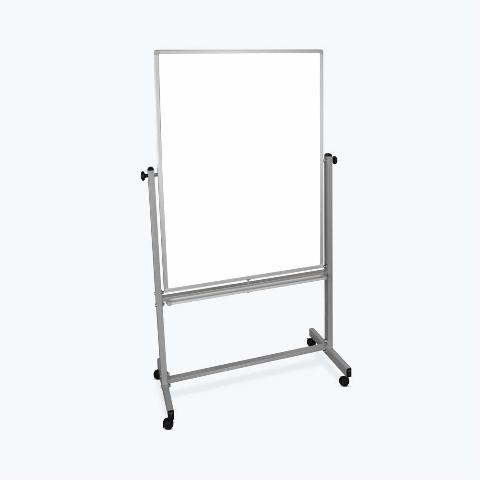 "Luxor 36x48"" Dry Erase Double-Sided Magnetic Whiteboard w/ Aluminum Stand BX DMG"