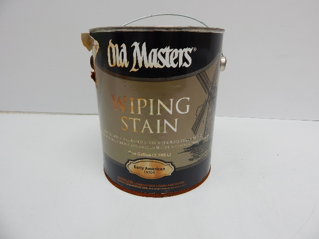 OLD MASTERS 11701 Wip Stain, 1 Gallon, Early American DISTRESSED CAN