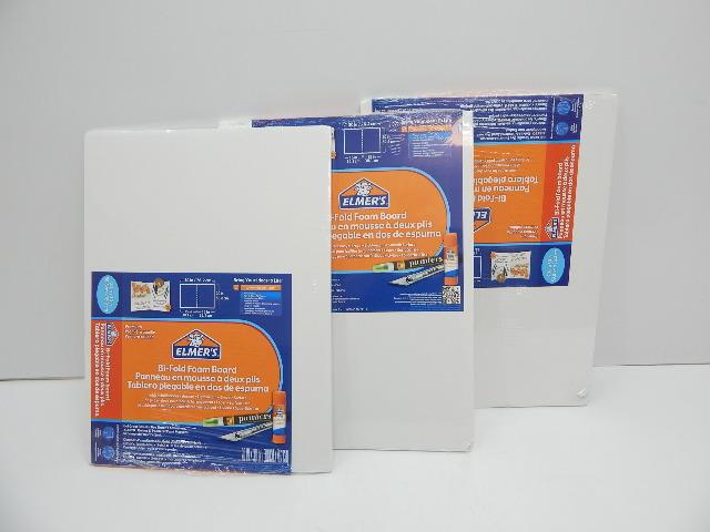 """Elmer's 905165 Bi-Fold Foam Board, 15""""X 20"""", White 3 ct MINOR DAMAGE on 2"""