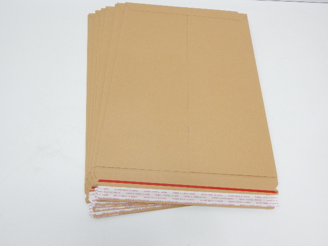 ABC KSTF1318 Natural Kraft Stay Flat Mailers 13 x 18 Shipping Envelopes, 8ct