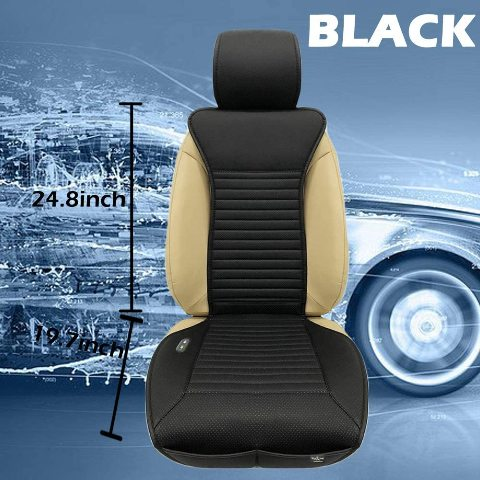 Big Ant Heated Seat Cushion, 12V Car 24V Truck Seat, Black TEAR IS COVER
