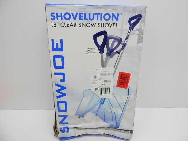 "Snow Joe SJ-SHLV02 Shovelution 18"" Snow Shovel w/Spring Assisted Handle BOX DMG"