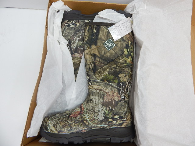Muck Woody Plus Rubber Scent-Mask Insulated Men's Hunting Boots, Mossy Oak, 14M