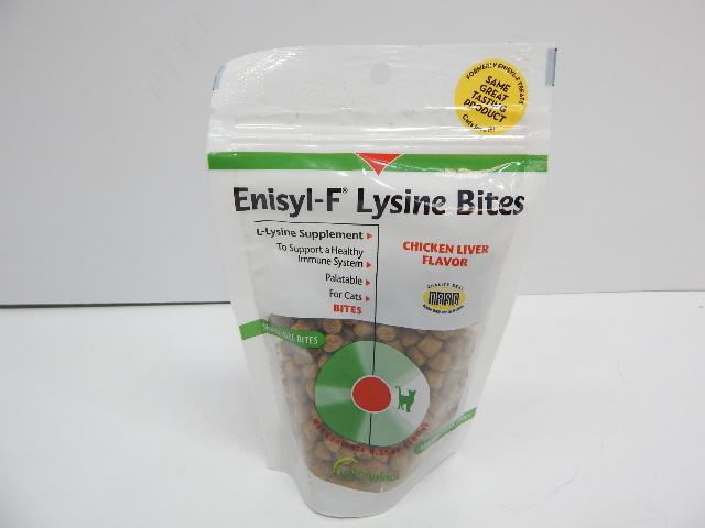 Vetoquinol Enisyl-F Lysine Bites Chews for Cats & Kittens, Chicken Liver 6.4oz