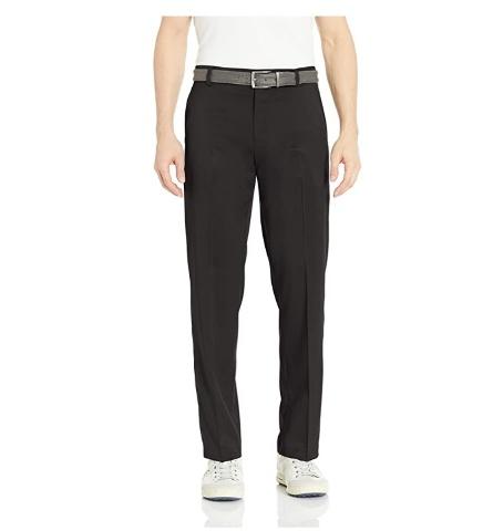 Amazon Essentials Men's Standard Classic-Fit Stretch Golf Pants, Black, 36W 32L