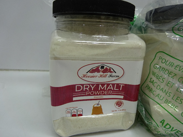 Hoosier Hill Farm Dry Malt (Diastatic) baking Powder 1.5 lb. 6ct DISTRESSED PKG