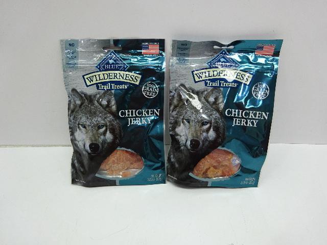 Blue Buffalo Wilderness Trail Treats High Protein Chicken Jerky Dog Treats, 2ct
