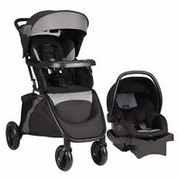 Evenflo 54511798 SensorSafe Epic Travel System Stroller & Car Seat Black BOX DMG