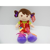 "Linzy Toys L-12432 16"" Education Doll Animal Plush (SMALL SPOT OF DIRT)"