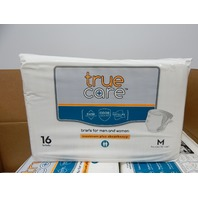 True Care Maximum Plus Absorbency Incontinence Briefs, Medium, 96 Count BOX DMG