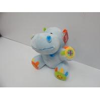 "Linzy Toys L-65165BL 10"" Hippo Activity Rattle Noise Maker Plush Animal, Blue"