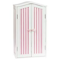 Laurent FDAR-PST-01 Doll Armoire - Pink Stripes