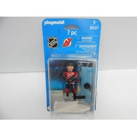 PLAYMOBIL 9037 NHL New Jersey Devils Player DISTRESSED PACKAGE