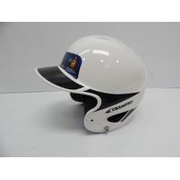"Champro H4HYWB Youth Performance Batting Helmet, White/Black, 6 1/2""-7 1/4"""