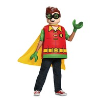 Disguise 66267G Robin Classic Child Costume, Red, Large/(10-12 Boys)