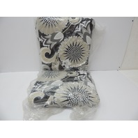 Pillow Perfect 611143 Sophia Graphite Squared Corners Chair Cushion