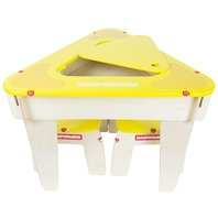 Magformers 62002 Yellow Triangle Wood Set Construction Table w/ 2 Stools