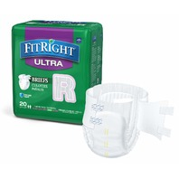 """Medline FitRight Ultra Adult Incontinence Briefs Diapers, Regular, 40-50"""", 80ct"""
