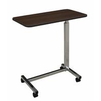Medline MDS104015 Overbed Bedside Table with Wheels,Walnut BOX DAMAGE