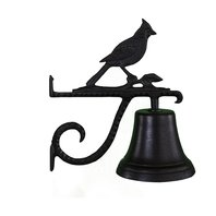 Montague Metal Products CB-1-25-SB Cast Iron Bell with Black Cardinal