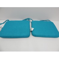 Pillow Perfect 600840 Out/In Rave Peacock Rounded Corners Seat Cushion Set of 2
