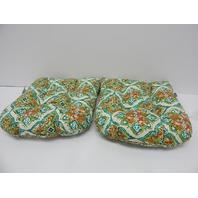 Pillow Perfect 610757 Outdoor Indoor Splendor Opal Wicker Seat Cushion, Set of 2