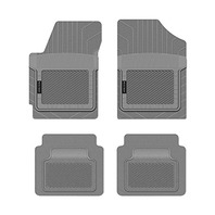 PantsSaver 1213142 Custom Fit 4pc Car Mat for 2014 Honda Ridgeline, Gray