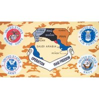 Fox Outdoor 84-39 Operation 2003 Iraqi Freedom 3' x 5' Flag