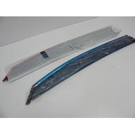 Bishop Tate Rear Window Wind Guard Deflectors w Chrome for 10-15 Lexus RX270 350
