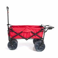 Mac Sports KR-103 Collapsible Folding All Terrain Utility Beach Wagon Cart, Red