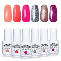 Perfect Summer 8ML 007 6pc Neon Colors Gel Nail Polish, 2 ct DISTRESSED PKG