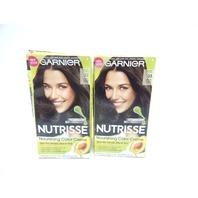 Garnier Nutrisse Nourish Hair Color Crème Caramel Fudge 33 Dark Golden Brown 2ct