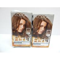 L'Oréal Paris Feria Shimmer Permanent Hair Color 60 Crystal Lt Brown 2ct BOX DMG