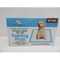 "Best Pet Supplies XLT-50 Extra-Large 36""x28"" Puppy Tranning Pads, 50ct BOX DMG"