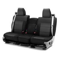 Coverking Front 40/20/40 Bench Seat Cover for Select Ford F-Series, Charcoal/Blk