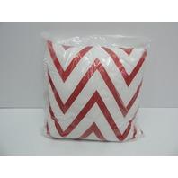 "Fiesta 15671618PIL Chevron Scarlet Red 18x18"" Decorative Pillow"