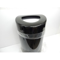 Safco Products 9920BL Open Top 30 Gal Trash Receptacle Can with Liner, Black